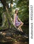 beautiful girl  | Shutterstock . vector #493316557