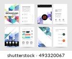 geometric background template... | Shutterstock .eps vector #493320067