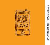 mobile smartphone icon | Shutterstock .eps vector #493328113
