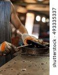 close up of man's hands.man... | Shutterstock . vector #493335337