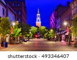 burlington  vermont  usa... | Shutterstock . vector #493346407