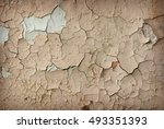 old wall with texture of... | Shutterstock . vector #493351393