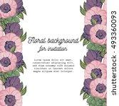 vintage delicate invitation... | Shutterstock . vector #493360093