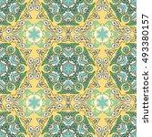 seamless pattern ethnic style....   Shutterstock . vector #493380157
