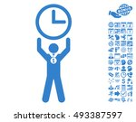 time champion pictograph with... | Shutterstock .eps vector #493387597