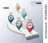 business concept timeline.... | Shutterstock .eps vector #493388383