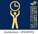 time champion icon with bonus... | Shutterstock .eps vector #493409593