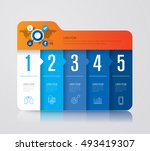 infographic design vector and... | Shutterstock .eps vector #493419307