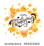 hand drawn thanksgiving... | Shutterstock .eps vector #493423363