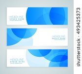 blue business banners set | Shutterstock .eps vector #493425373