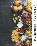 beer and snack set. oktoberfest ... | Shutterstock . vector #493437517