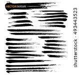 set of grunge brush strokes... | Shutterstock .eps vector #493443523