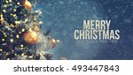 christmas background  | Shutterstock . vector #493447843