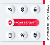 home security icons set  cctv ... | Shutterstock .eps vector #493453627
