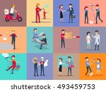 labor day different professions.... | Shutterstock . vector #493459753
