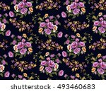 seamless floral pattern in... | Shutterstock .eps vector #493460683