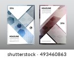 brochure layout template flyer... | Shutterstock .eps vector #493460863
