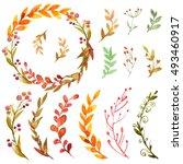 Set Of Autumn Flowers  Herbs...