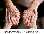 close up of young woman hand... | Shutterstock . vector #493465723