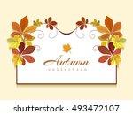 vector autumn background ... | Shutterstock .eps vector #493472107