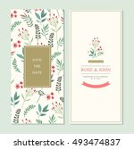 wedding invitation card suite... | Shutterstock .eps vector #493474837