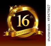 16th golden anniversary logo ...