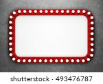 retro cinema banner on ... | Shutterstock . vector #493476787