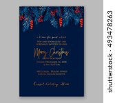 christmas party invitation... | Shutterstock .eps vector #493478263