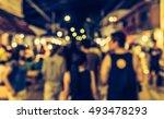 vintage tone blur image of... | Shutterstock . vector #493478293