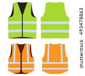 Road Vest For Safe Work. Safet...