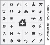 medical icons universal set for ... | Shutterstock . vector #493484893