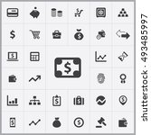 finance icons universal set for ... | Shutterstock . vector #493485997