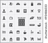hotel icons universal set for... | Shutterstock . vector #493486033