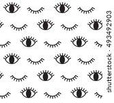 eye  hipster  black and white... | Shutterstock .eps vector #493492903