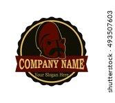 raccoon logo design | Shutterstock .eps vector #493507603
