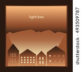 paper house with light | Shutterstock .eps vector #493509787