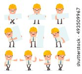 set of smart and funny...   Shutterstock .eps vector #493509967