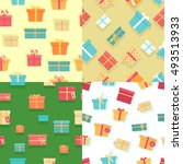 seamless pattern with colorful... | Shutterstock .eps vector #493513933