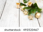 christmas fir tree with... | Shutterstock . vector #493520467
