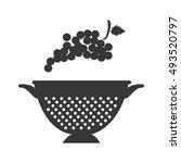 fruit and kitchen colander | Shutterstock .eps vector #493520797