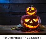 Grinning Pumpkin Lantern Or...