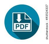 pdf icon vector | Shutterstock .eps vector #493524337