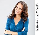 portrait of smiling...   Shutterstock . vector #493524613
