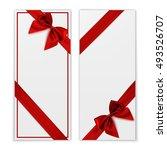 gift card. white gift voucher... | Shutterstock .eps vector #493526707