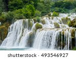 Nature Landscape Of Waterfall...