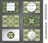 set of stylish business card... | Shutterstock .eps vector #493552453