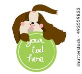 dog label for pet shop vector | Shutterstock .eps vector #493559833