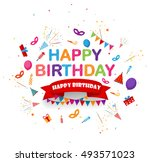 birthday celebration background ... | Shutterstock .eps vector #493571023