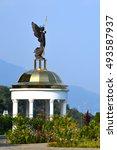 Sculpture Of Archangel In...