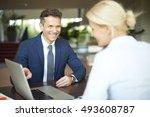 portrait of investment advisor... | Shutterstock . vector #493608787
